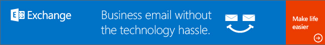 Microsoft Exchange Server: Business email without the technology hassle.